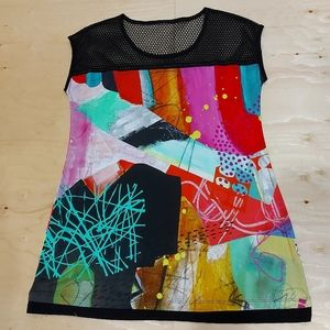2 for $25- Vintage Art Tunic Top, Approx. Size XL